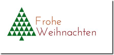 Weihnachtskarte mit Tannenbaum minimalistisch