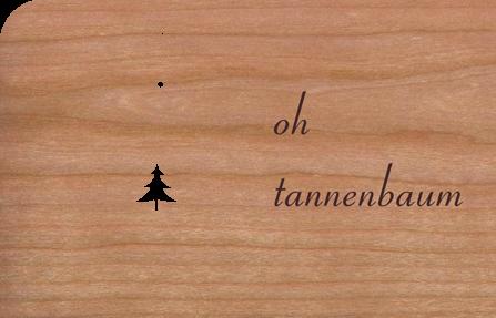 Holzkarte Anhänger Oh Tannenbaum