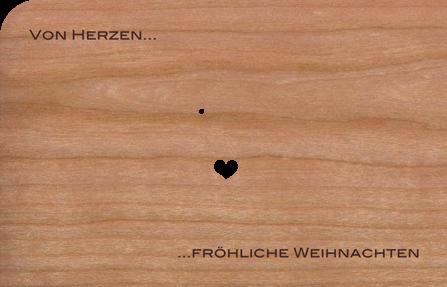Holzkarte Anhänger Engel