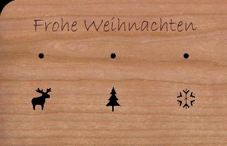 Holzkarte Anhänger Kugeln