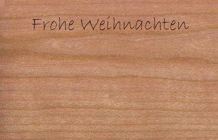 Holz Weihnachtskarten.Holz Weihnachtskarte Mit Anhänger Kugeln