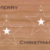 Holzkarte Anhänger Sterne