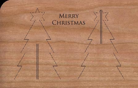 Holzkarte Anhänger Weihnachtsbaum