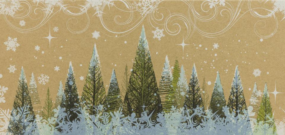 Weihnachtskarte aus Kraftpapier