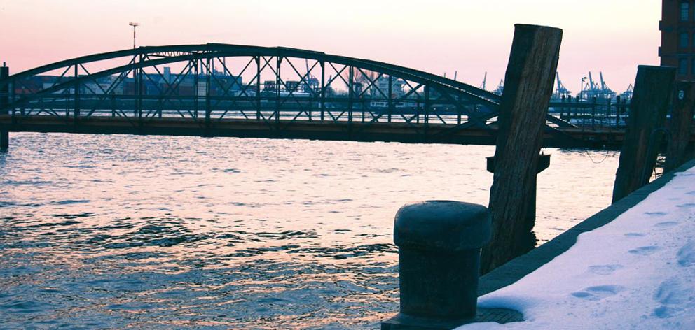 Winterstimmung Elbe Hamburg