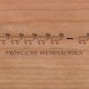 Holzkarte Rentiere in der Reihe
