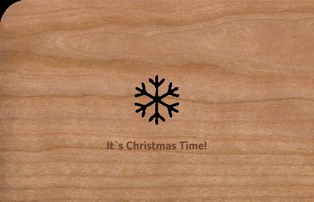 Holzkarte mit Schneekristall