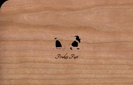 Holzkarte mit Weihnachtsmann