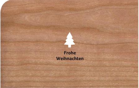 Holzkarte Weihnachten