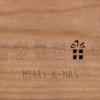 Holzkarte mit Geschenken