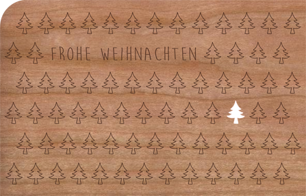 Holzkarte Tannenbäume