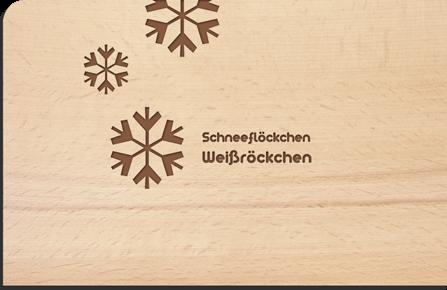 Holzpostkarte Schneeflöckchen Weißröckchen