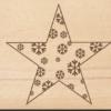 Holzpostkarte Stern