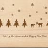Holzpostkarte Winterlandschaft