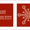 Weihnachtskarte aus Esspapier