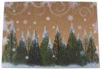 Weihnachtskarte Kraftpapier Weihnachtsbaum