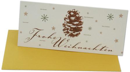 Weihnachtskarte Samenpapier