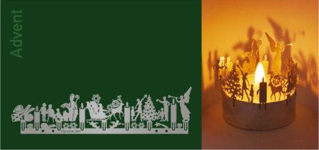 Teelichtkarte Advent