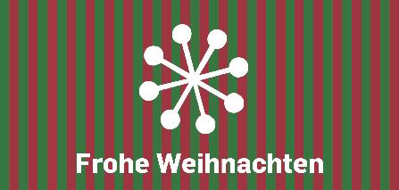 Weihnachtskarte grün-rot Streifen