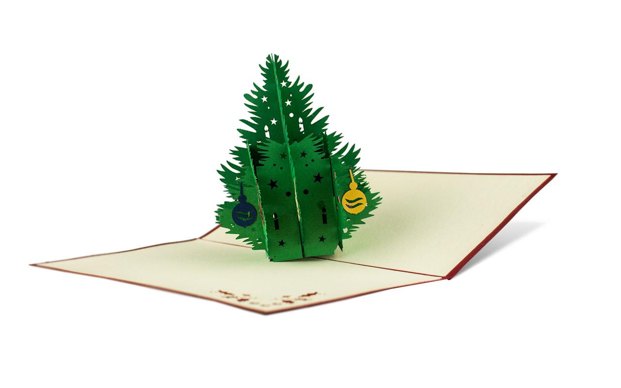 Popup-Karte Weihnachtsbaum