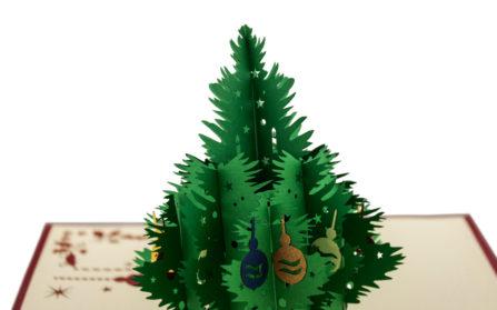 Popup-Karte Weihnachtsbaum Detail