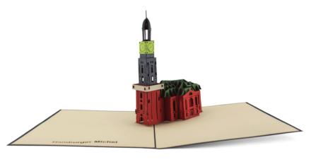 Michel Hamburg Popup-Karte