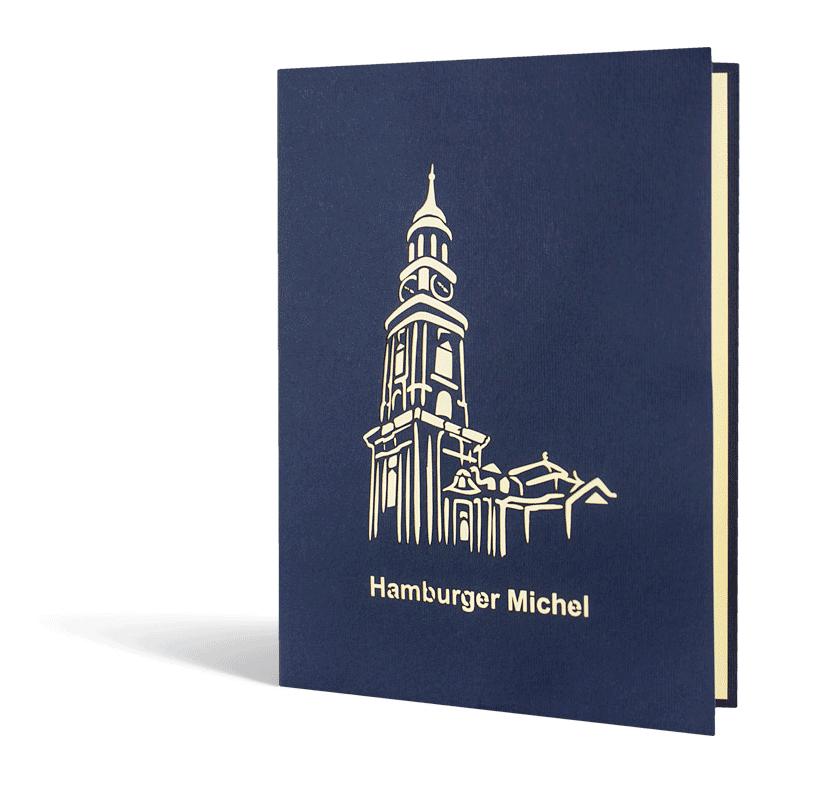 Vorderseite Popup-Karte Hamburger Michel
