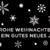 Weihnachtskarte schwarz-weiss