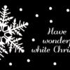 Weihnachtskarte schwarz mit Weissdruck