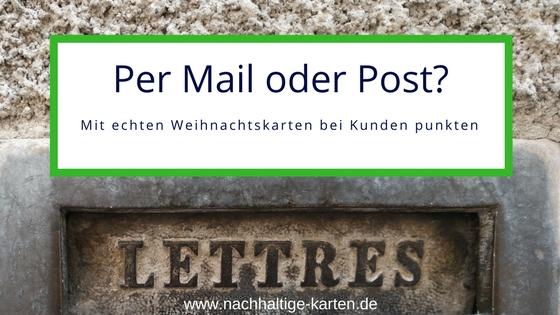 Weihnachtskarten per Post