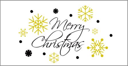 Weihnachtskarte mit Golddruck