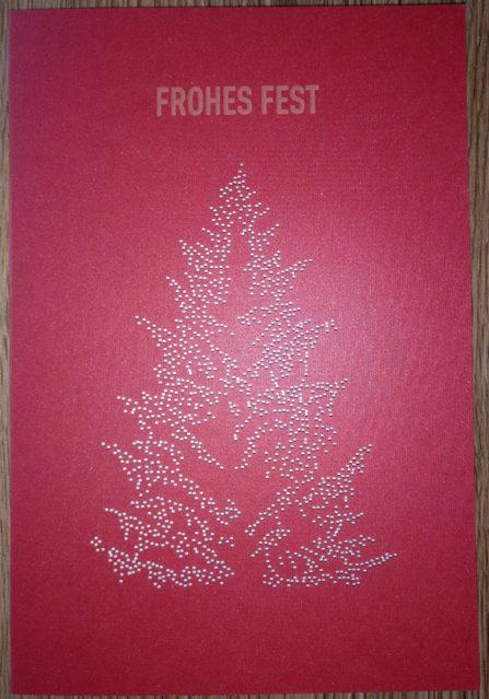 Weihnachtskarte Laser Tannenbaum