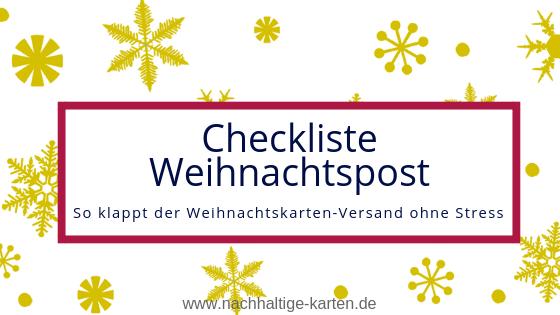 Checkliste geschäftliche Weihnachtspost