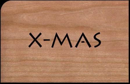 Holzkarte X-Mas