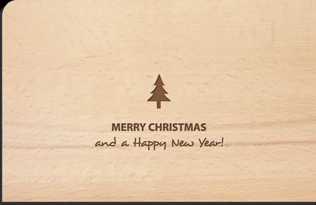 Postkarte aus Holz Merry Christmas