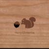 Holzkarte Eichhörnchen Weihnachten