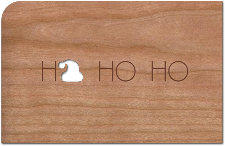 Holz-Weihnachtskarte hohoho