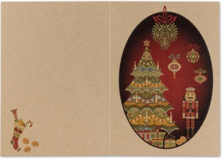 Gesamtansicht Weihnachtskarte Nussknacker