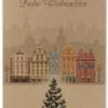 Kraftkarton Weihnachtskarte Stadt