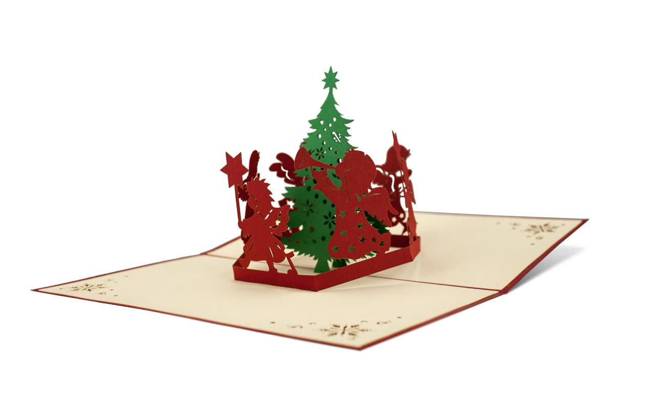 Popup-Karte Weihnachtsreigen