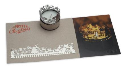 Weihnachtskarte Teelicht Christmas