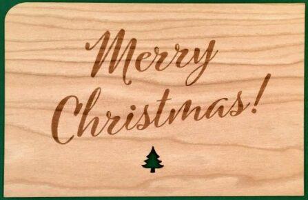 Holzkarte Merry Christmas