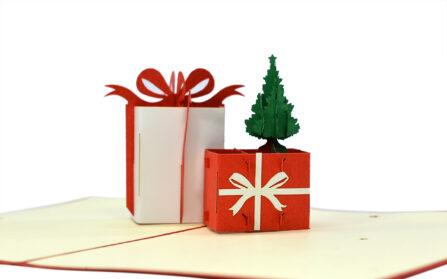 Popup-Weihnachtskarte Geschenke