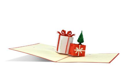Weihnachtskarte 3D Geschenke